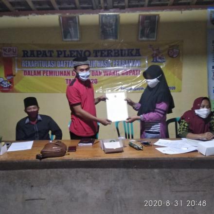 Rekapitulasi Daftar Pemilih Dalam Pemilihan Bupati dan Wakil Bupati